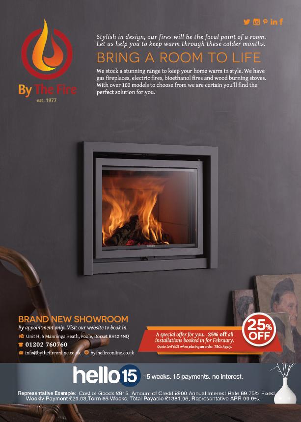 Dorset Designer Magazine Advert - By the Fire